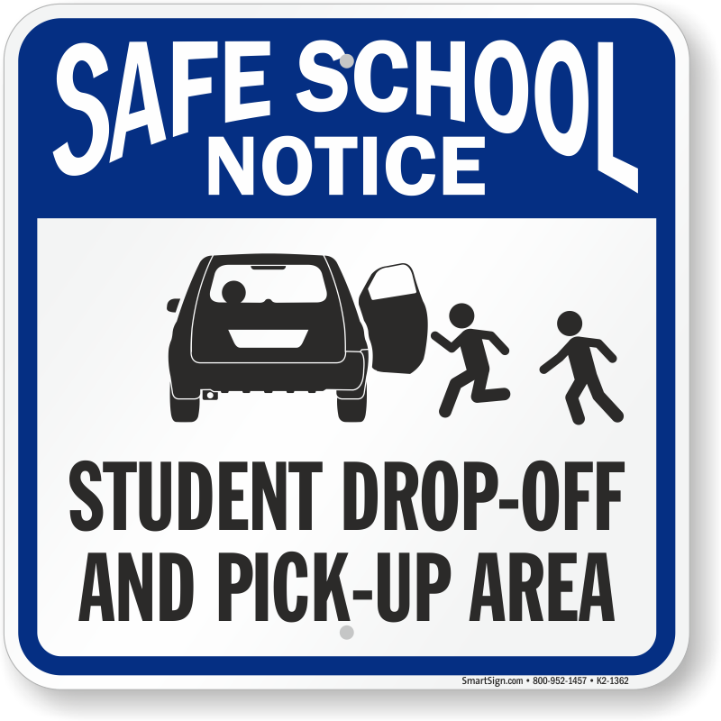 Important information on pickup & dropoff areas