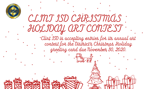 Image of Clint ISD Christmas Holiday Art Contest