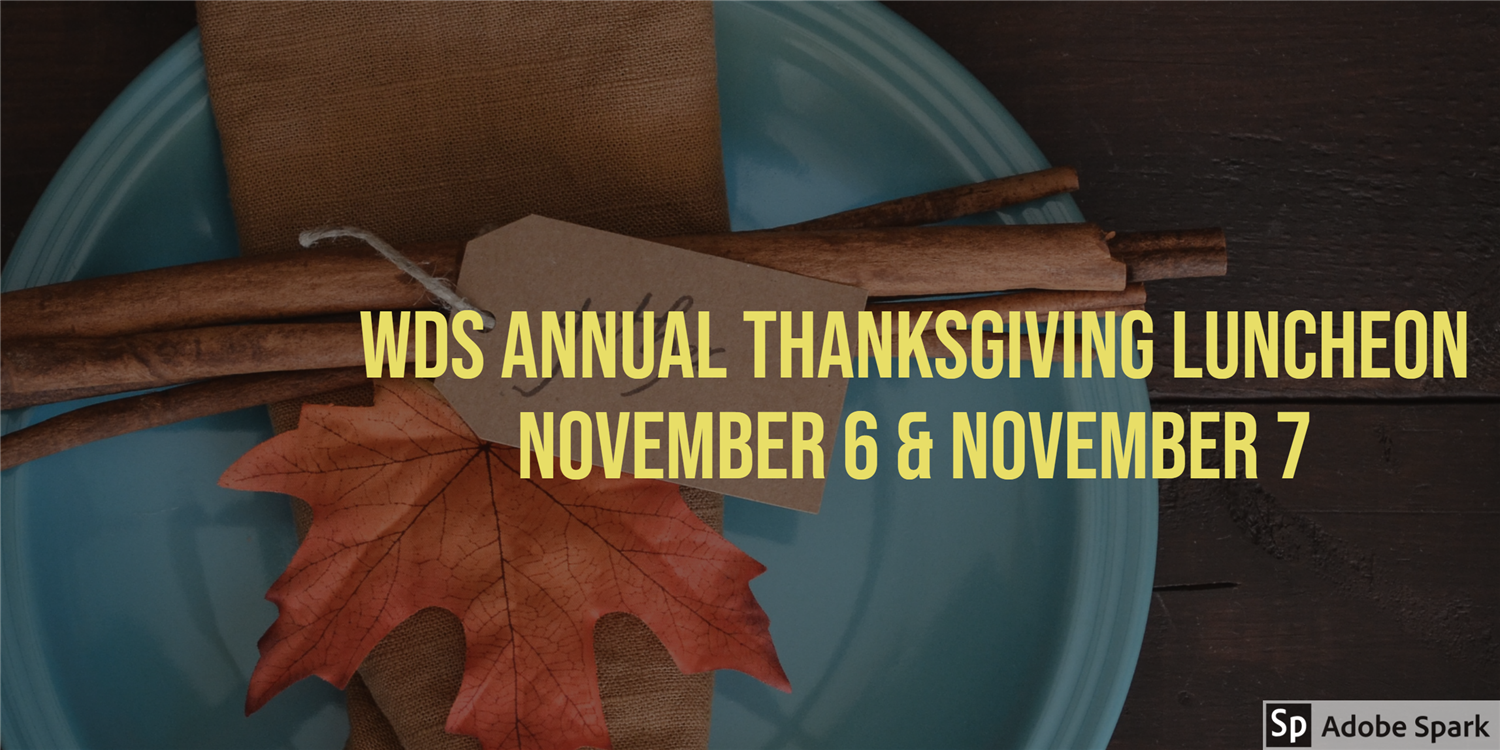 Image of WDS Annual Thanksgiving Luncheon Banner