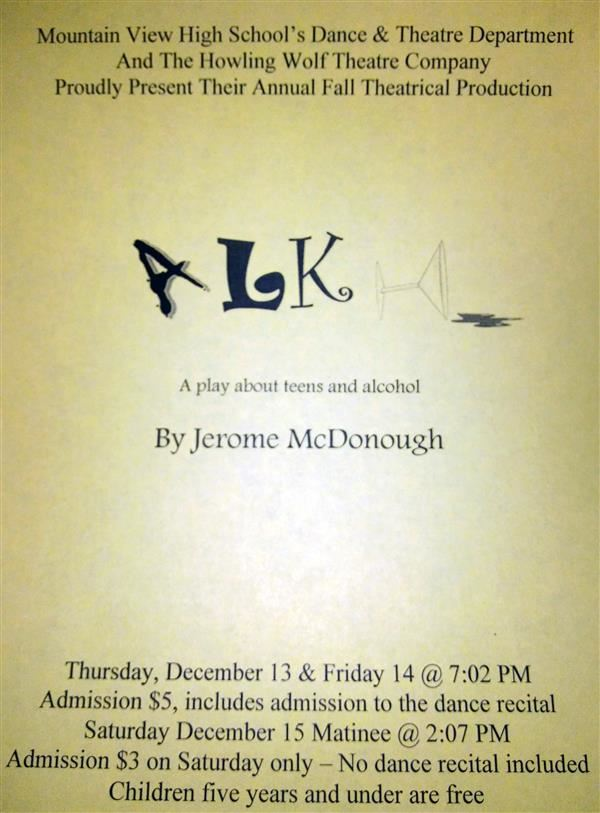 MVHS Fall Theater Production