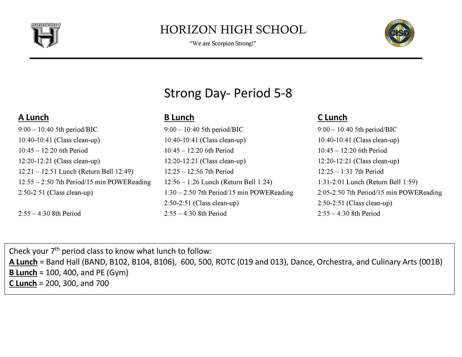 HHS Bell Schedule Part 2