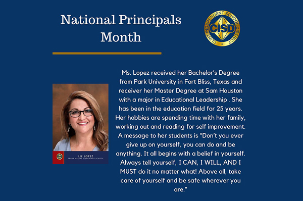 Principals of the month Liz Lopez