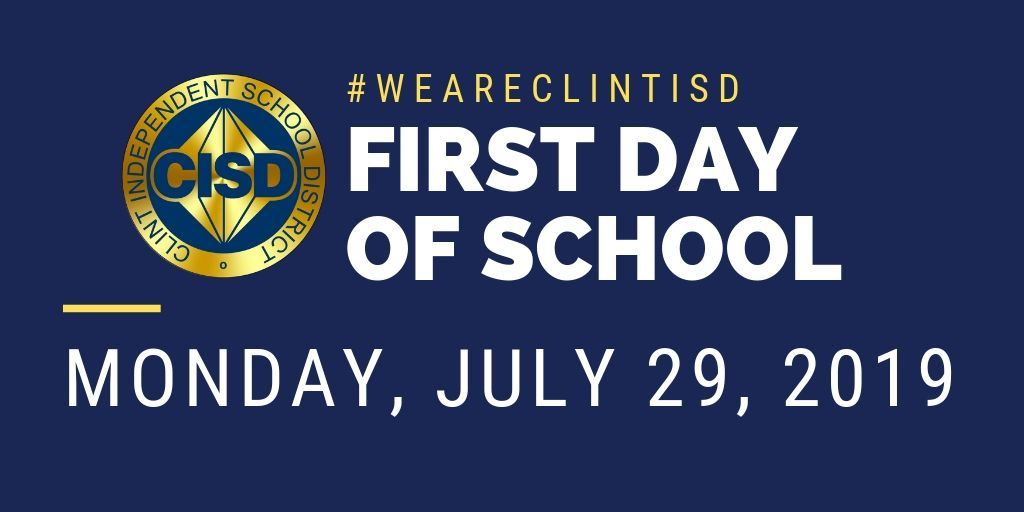 first day of school July 29