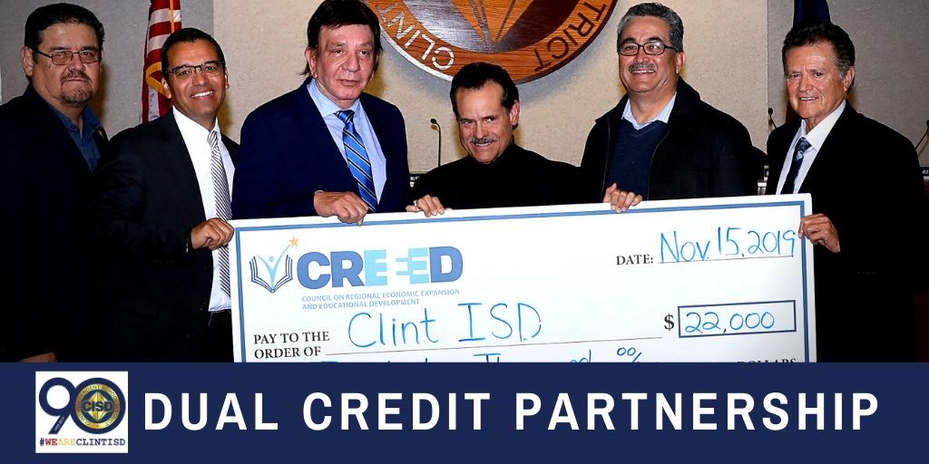 Clint ISD Expands Dual Credit Program Thanks to CREEED Partnership