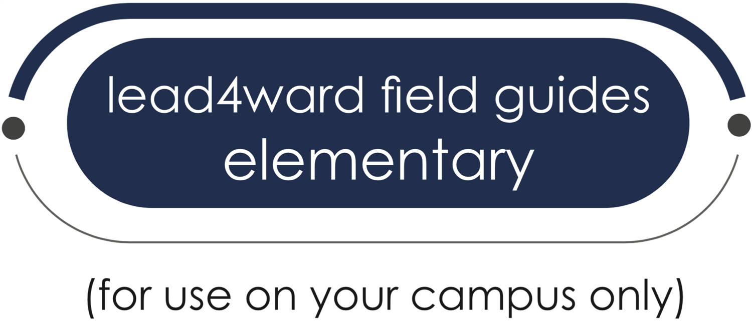 lead4ward field guides elementary button