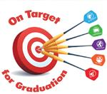 On target for graduation graphic